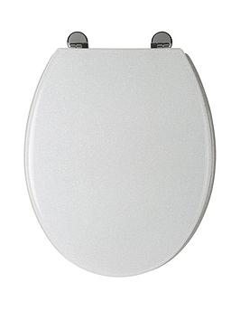 Croydex White Glitter Toilet Seat