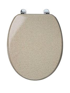 Croydex Sandstone Moulded Wood Toilet Seat