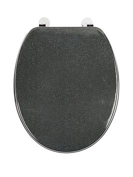 Croydex Granite Moulded Wooden Toilet Seat