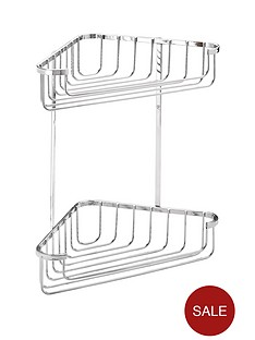 croydex-rust-free-medium-two-tier-cornor-basket