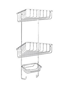 croydex-three-tier-corner-shower-basket-with-hooks
