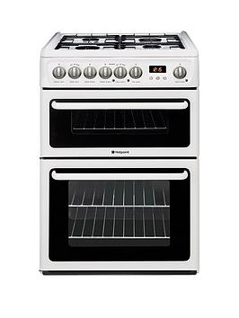 Hotpoint Hotpoint Newstyle Hag60P 60Cm Double Oven Gas Cooker With Fsd -  ... Picture