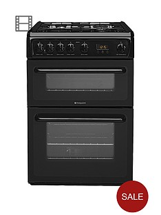 hotpoint-newstylenbsphag60k-60cm-double-oven-gas-cooker-with-fsd-black
