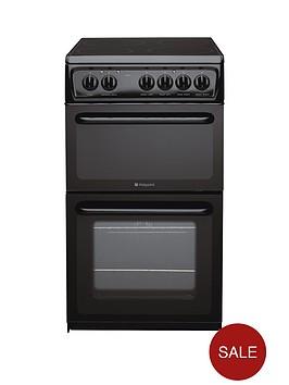 hotpoint-hae51ks-50cm-twin-cavity-electric-cooker-black