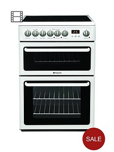 hotpoint-newstylenbsphae60psnbsp60cmnbspdouble-oven-electric-cooker-with-ceramic-hob-white