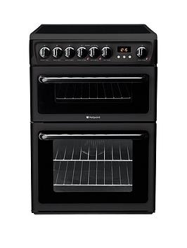 Hotpoint Hotpoint Newstyle Hae60K 60Cm Double Oven Electric Cooker With  ... Picture