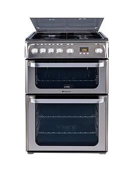 Hotpoint Hotpoint Ultima Hug61X 60Cm Double Oven Gas Cooker With Fsd -  ... Picture