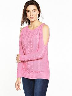 v-by-very-cold-shoulder-chunky-cable-knit-jumper