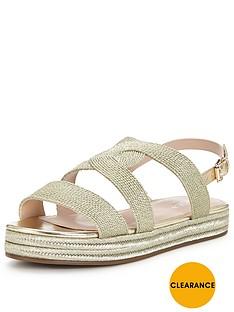 carvela-kleo-metallic-rope-chunky-sandal