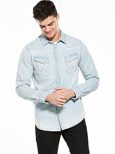 wrangler-long-sleeve-original-western-denim-shirt