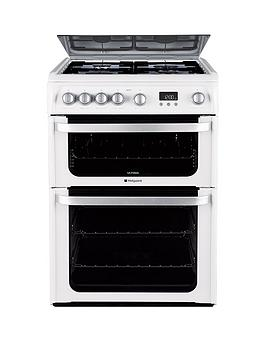 Hotpoint Hotpoint Ultima Hug61P 60Cm Double Oven Gas Cooker With Fsd -  ... Picture