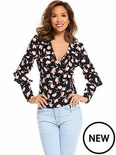 myleene-klass-ruffle-front-wrap-blouse