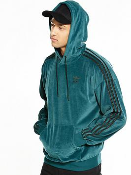 Adidas Originals Adidas Originals Ornamental Block Velour Hoody