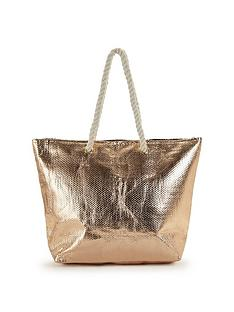 v-by-very-rose-metallic-beach-bag