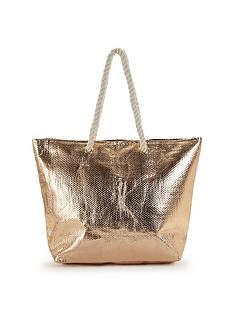 v-by-very-rose-metallic-beach-bag