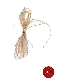 v-by-very-pearl-and-diamante-single-bow-fascinator-champagne