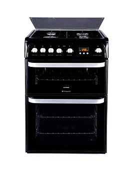 Hotpoint Hotpoint Ultima Hug61K 60Cm Double Oven Gas Cooker With Fsd -  ... Picture