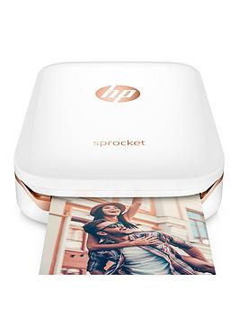 Hp Sprocket Portable Photo Printer  WhiteGold  Sprocket Only