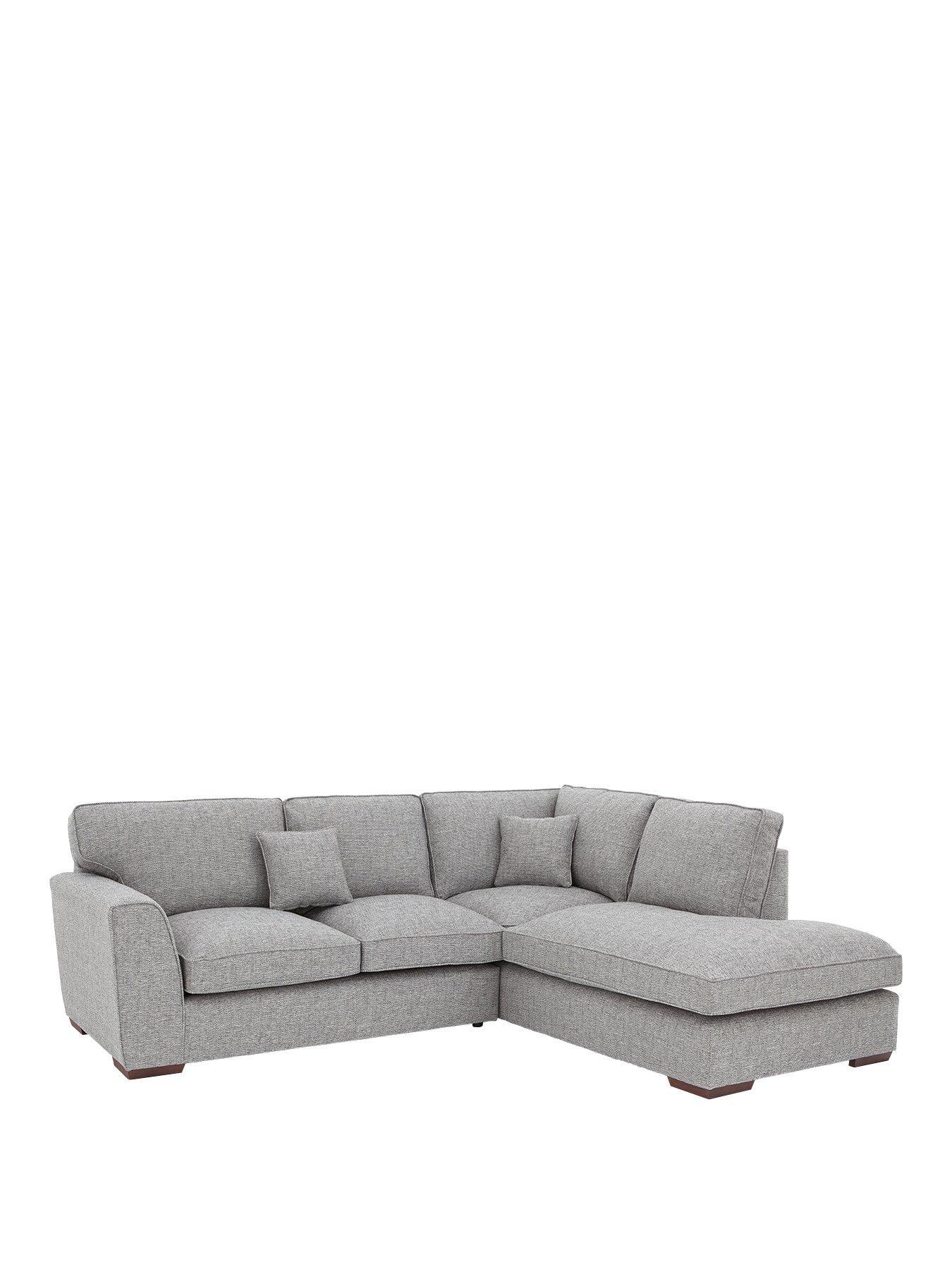 rio standard back fabric righthand corner chaise sofa