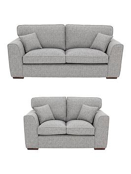 Very Rio 3-Seater + 2-Seater Standard Back Fabric Sofa Set (Buy And Save!) Picture