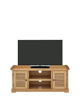 Luxe Collection  Hastings Oak Ready Assembled Tv Unit  Fits Up To 50 Inch Tv