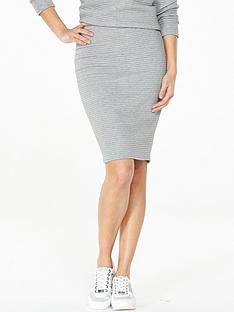 v-by-very-bonded-rib-skirt