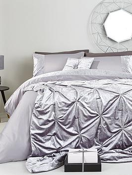 Very Amelie Crushed Velvet Duvet Cover Set Picture