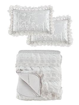 Patience Bedspread Throw And Shams