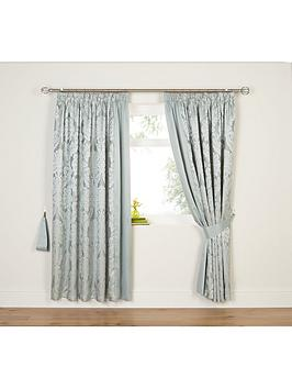 Very Boston Jacquard Lined Pencil Pleat Curtains Picture