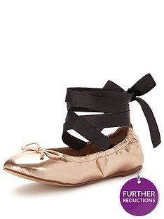 v-by-very-bluebell-tie-around-ballerina--rose-gold