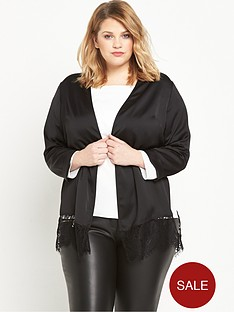 ri-plus-lace-hem-duster-jacket-black