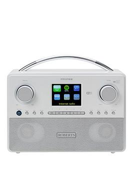 Roberts Stream93I Radio White DabDabFm Rds And Wifi Internet Radio With Three Way Speaker System