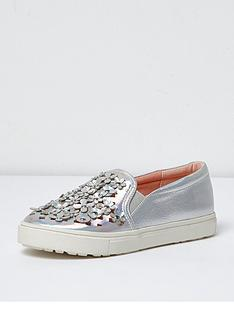 river-island-girls-floral-applique-plimsolls