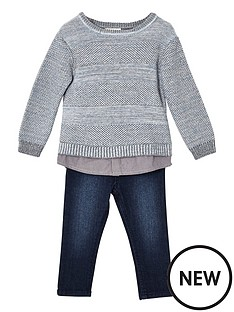 river-island-mini-boys-grey-knit-jumper-and-jeans-set