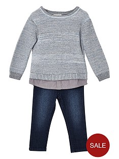 river-island-mini-boys-grey-knit-jumper-and-jeans-set