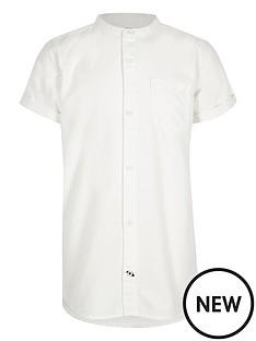 river-island-boys-grandad-colllar-short-sleeve-shirt