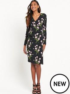 warehouse-english-rose-wrap-dress