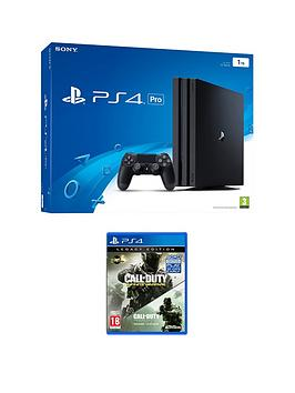 playstation-4-pro-1tb-console-with-call-of-duty-infinite-warfare-legacy-edition-with-optional-extra-controller-andor-12-months-playstation-network