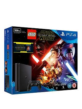 playstation-4-slim-500gb-console-with-lego-star-wars-the-force-awakens-and-force-awakens-blu-ray-plus-optional-extra-controller-andor-12-months-playstation-network