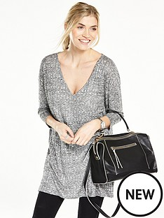 v-by-very-jersey-knit-rib-v-neck-tunic