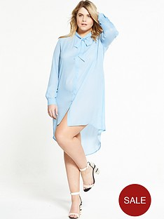 alice-you-tie-neck-dress-blue