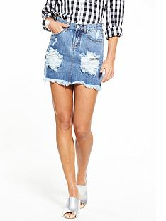 glamorous-denim-mini-skirt