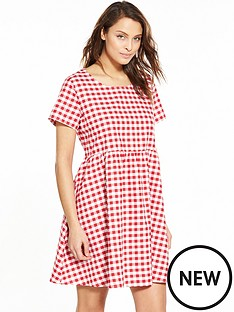 glamorous-glamorous-gingham-short-sleeve-swing