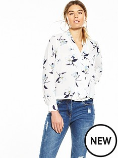glamorous-cross-front-floral-blouse