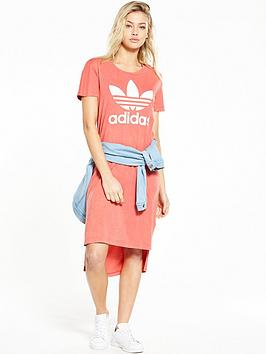 Adidas Originals Ocean Elements Tee Dress  Pink