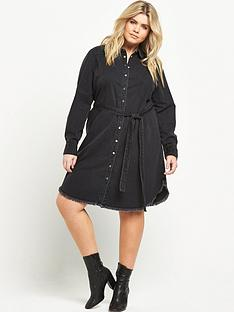 ri-plus-denim-shirt-dress-washed-black