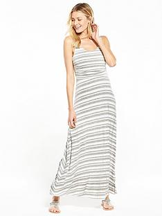 v-by-very-stripe-ruched-maxi-dress