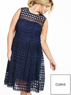 v-by-very-curve-curve-geo-lace-dress-navy