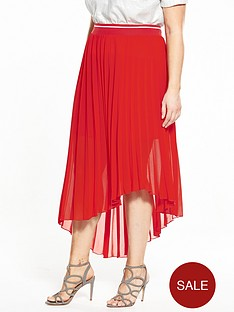 elvi-curve-pleated-chiffon-skirt