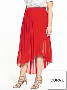elvi-pleated-chiffon-skirt-red